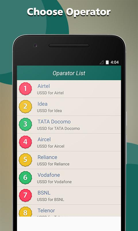 Mobile USSD Code India Network 1 2 APK Download - Android
