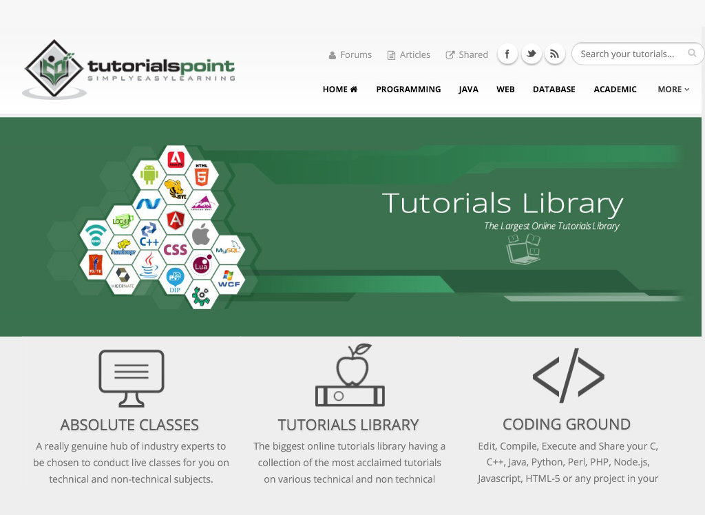 tutorialspoint 2.2 APK Download - Android Education Apps