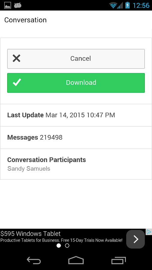how to search a specific date conversation in facebook message