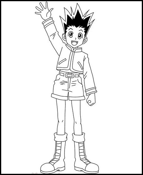 Hunter X Hunter Coloring Pages Coloring Pages Kids