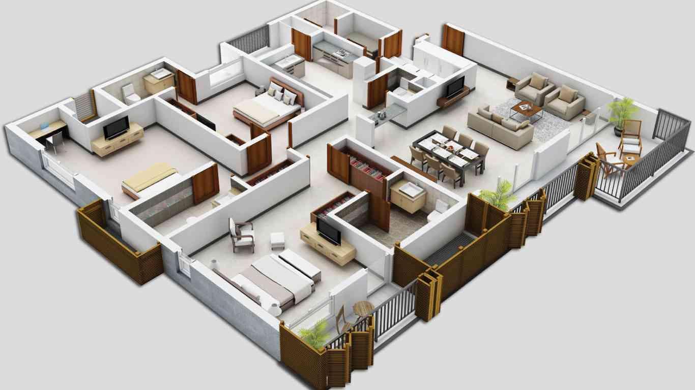 16 My Feel Good 5 Bedroom House Floor Plan Design 3d