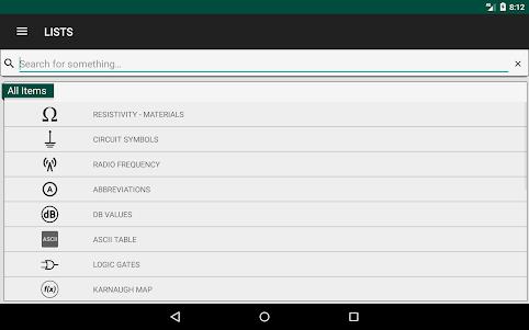 Electronics Engineering Calculators 2.1.0 screenshot 14