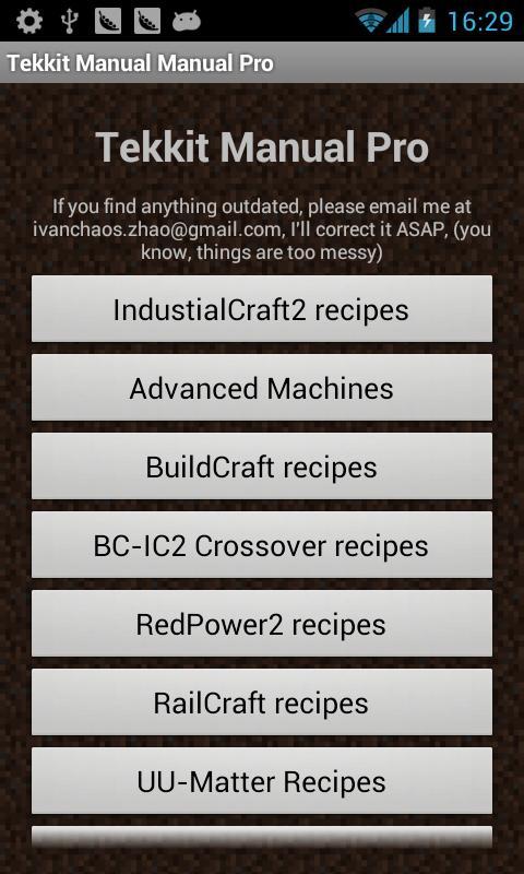 Tekkit Manual Pro 1 9 APK Download - Android Books