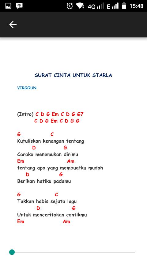 Surat Cinta Untuk Starla Chord 10 Apk Download Android