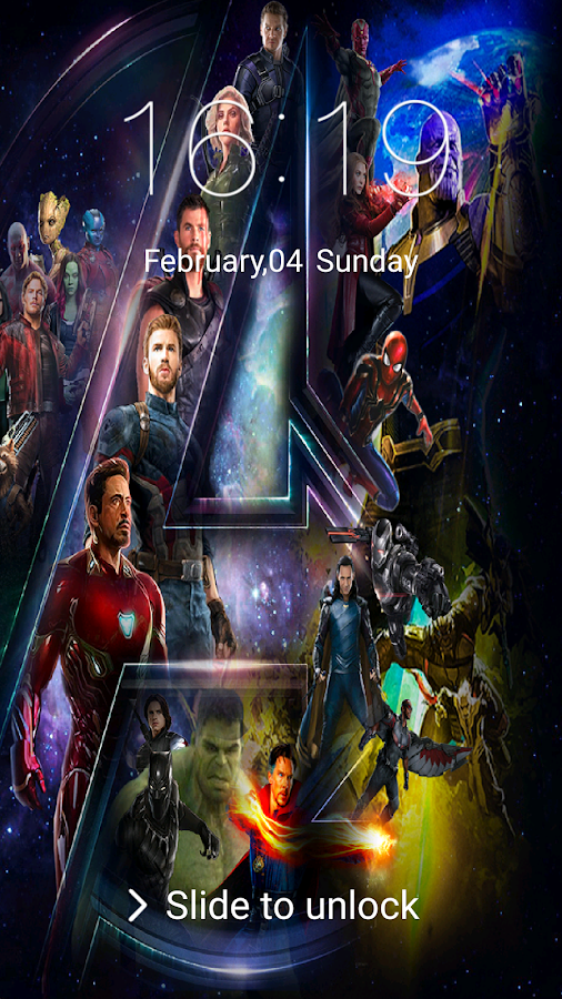 Avengers: Infinity War Lock Screen & HD wallpapers 3 0 0 APK