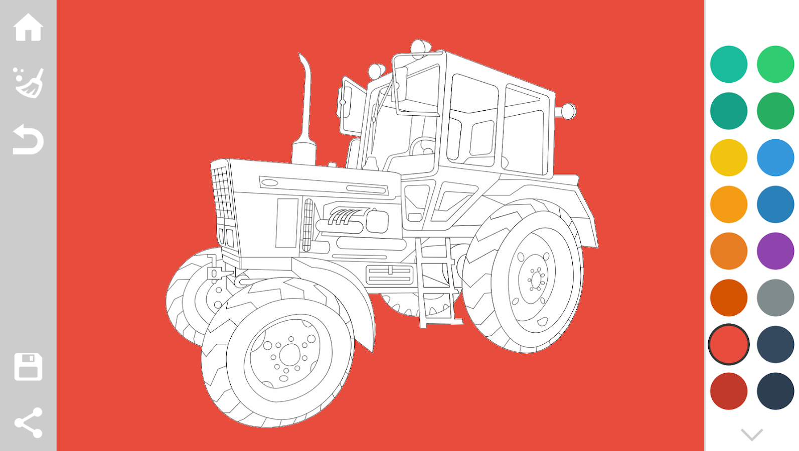 Tractors coloring pages game 1 8 screenshot 1
