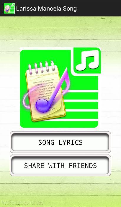 All Lyrics of Larissa Manoela 1.0 APK Download - Android Music ... 02cc544e23