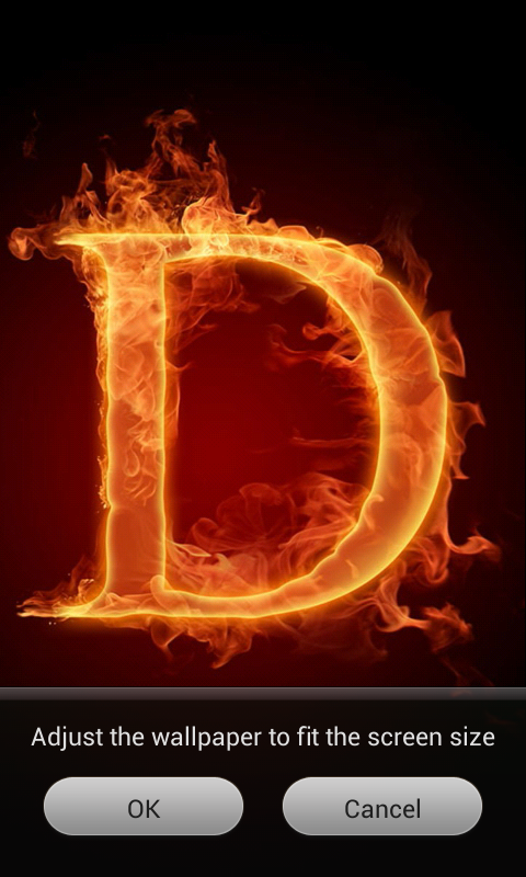 3D Letter Fire Live Wallpaper 12 Screenshot 4