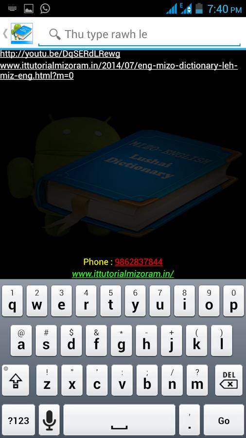 Mizo - English Dictionary Lite 1 0 APK Download - Android