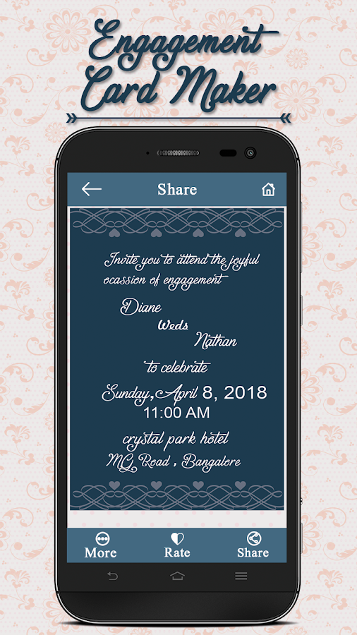 Engagement Invitation Card Maker 5 0 Apk Download Android