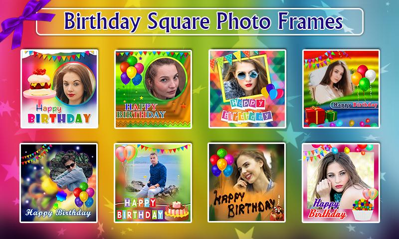 Birthday Greeting Cards Maker Photo Frames Cakes 1035 Apk