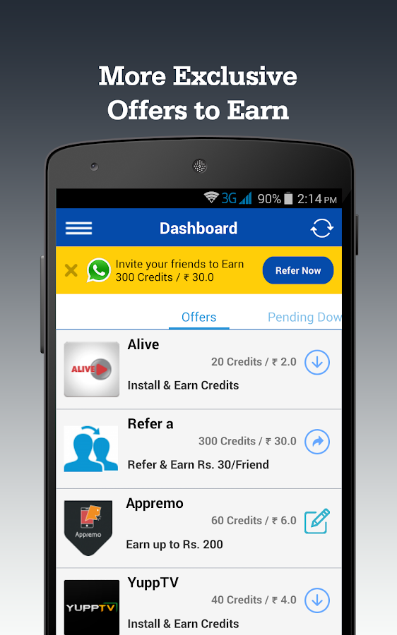 Cash On Apps - Free Recharge 3 0 2 APK Download - Android