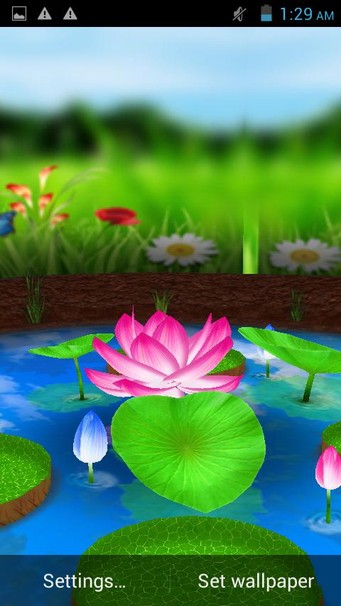 Lotus 3D Live Wallpaper 22 Screenshot 7