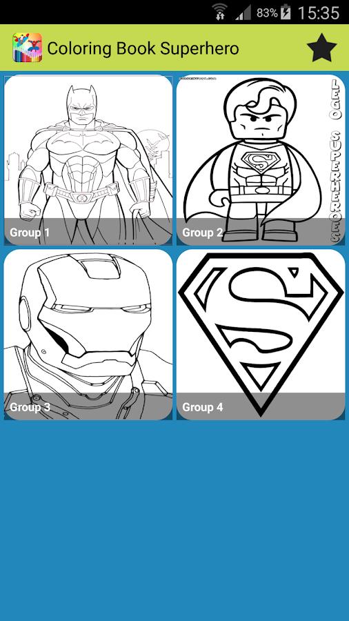 Coloring Book Superhero 15 Apk Download Android Educational Games