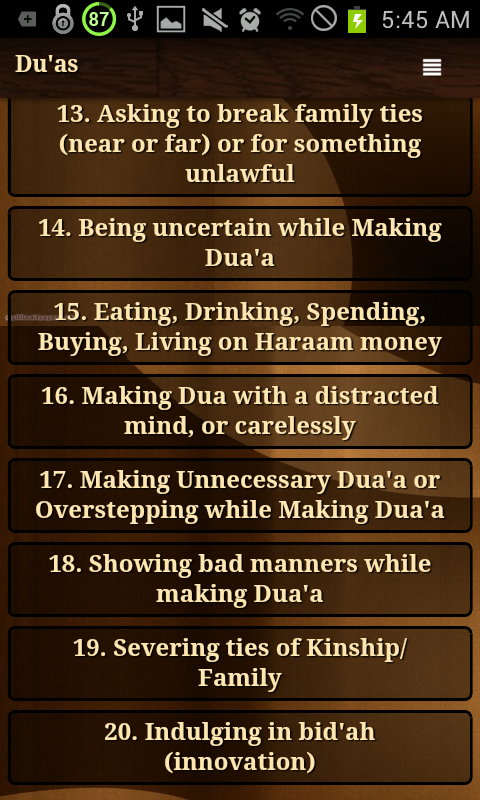 Reasons why Dua is unanswered 1 2 APK Download - Android