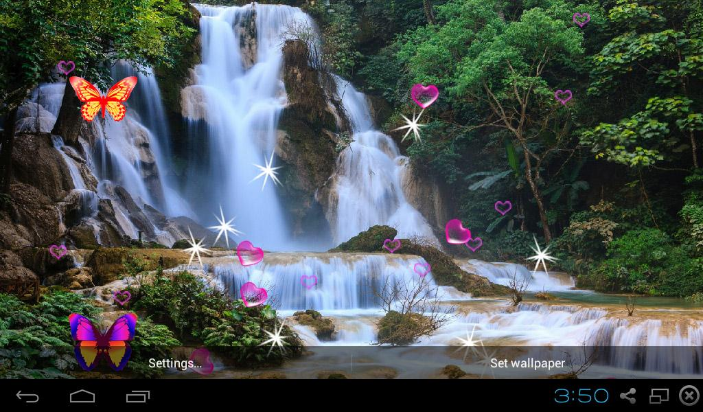 3D Waterfall Wallpapers 440 Screenshot 4