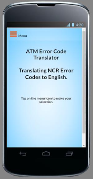 ATM Error Code Translator- NCR 9 0 13 APK Download - Android