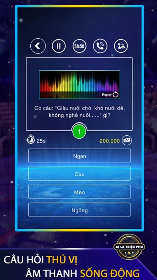 Ai Là Triệu Phú 1.0.1 screenshot 1 ...