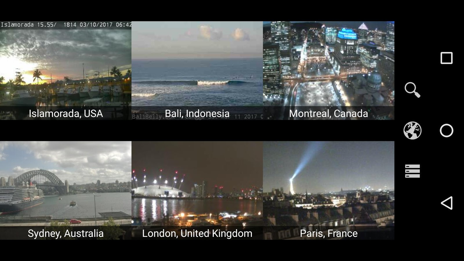Earth Online Live World Webcams Cameras Pro
