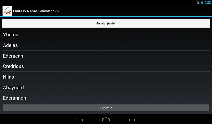 Download Fantasy Name Generator 2.2 APK Datei