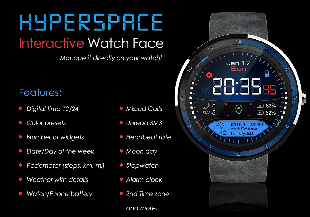 Hyperspace Watch Face 127 Apk Download Android Personalization Apps Circuit Board Clock V 10 For G Facerepo Screenshot 1