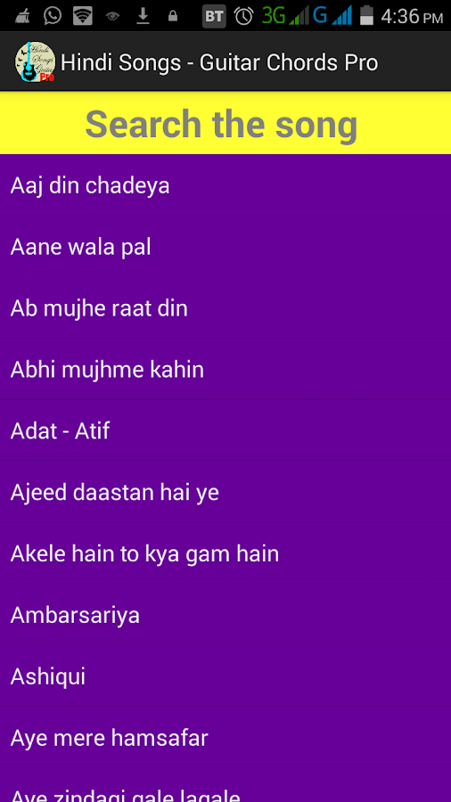 Hindi Songs Guitar Chords PRO 1.0 APK Download - Android Music ...