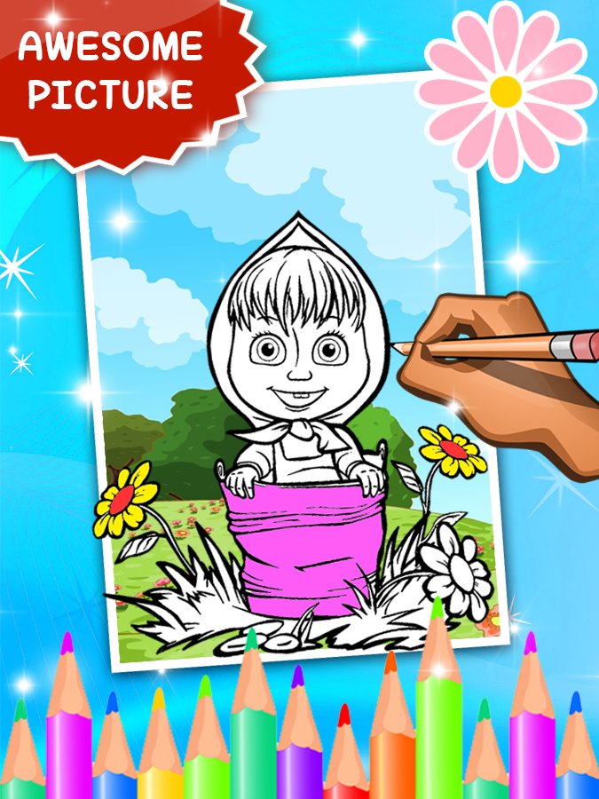 Coloring Book For Masha Bear 10 Apk Download Android