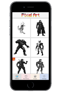 Superhero Color by Number - Pixel Art Coloring 1.0 screenshot 2
