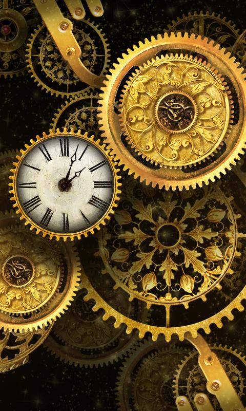 Free Gold Clock Live Wallpaper 2 01 Apk Download Android