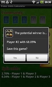 Poker Odds Calculator 1.4.3 screenshot 3