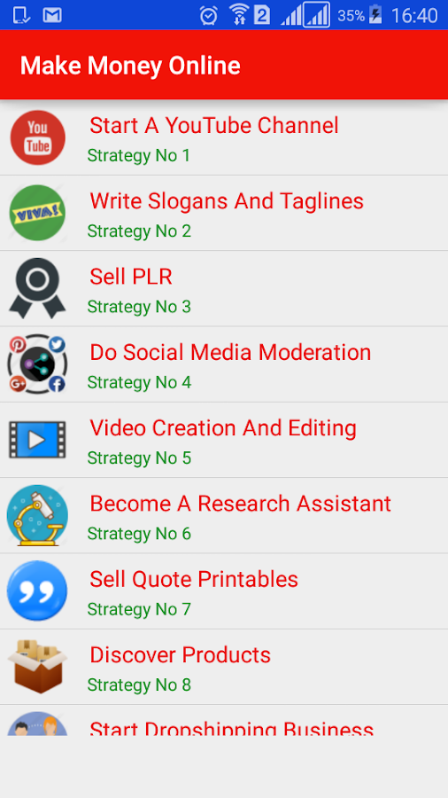 Make Money Online 4 0 APK Download - Android Education Apps