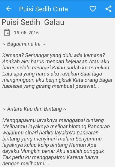 Puisi Cinta Sedih Galau 4 4 0 Apk Download Android Books