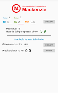 Calculadora Sub/PF Mackenzista 1.271 screenshot 3