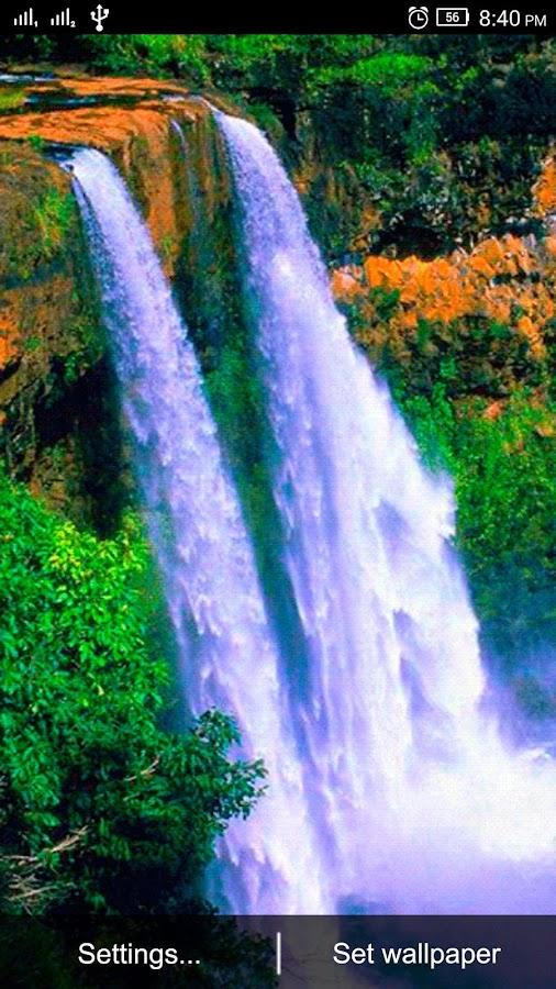 ... 3D Waterfall Live Wallpaper 1.2 screenshot 5 ...