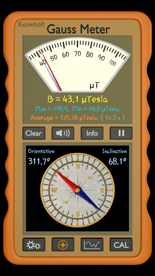 Magnetic Inclination Measuring Instrument For : Gauss meter apk download android tools apps
