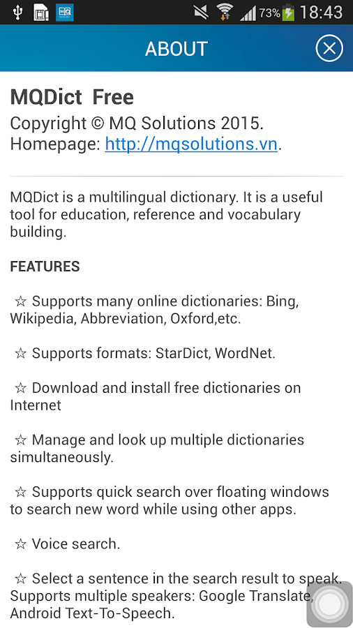 MQDict Dictionary 2 0 3 APK Download - Android Books