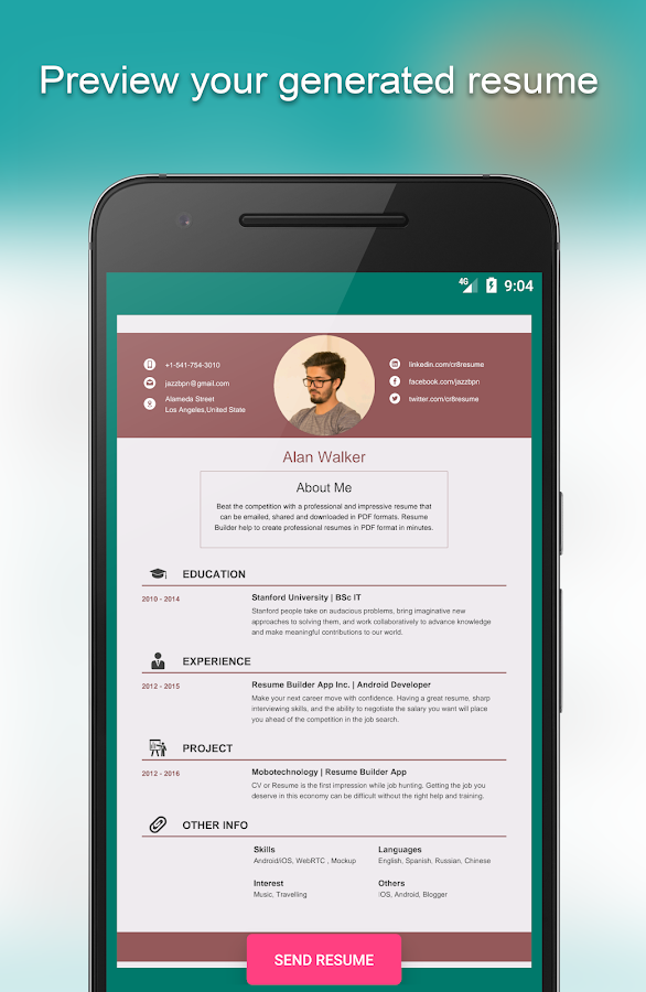 resume builder app free 8541 free screenshot 17 - Resume Builder App Free