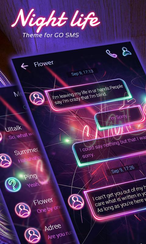 FREE) GO SMS NIGHT LIFE THEME 1 60 APK Download - Android
