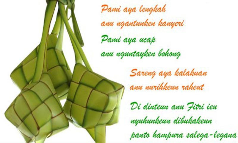 Kumpulan Ucapan Selamat Idul Fitri Bahasa Sunda