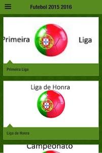 Futebol 2015-16 App português 1.0 screenshot 1