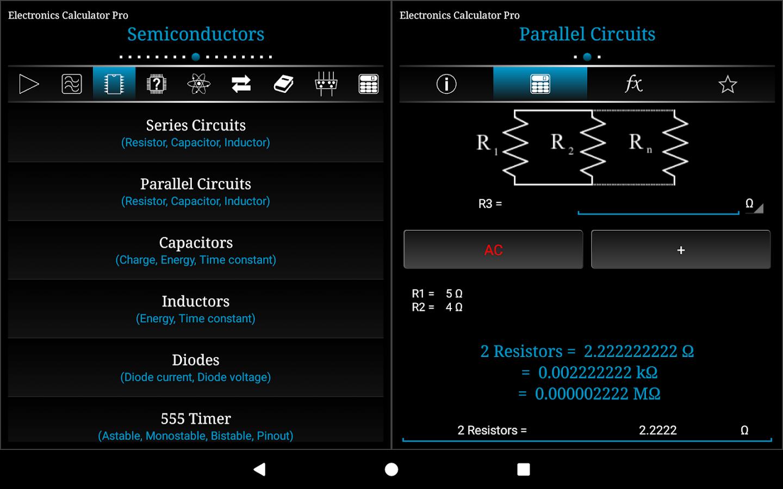 Electronics Calculator Pro 162 Apk Download Android Education Apps 555 Circuit Simulator Screenshot 9