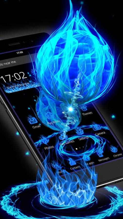 3D Blue Fire Ball Theme 1 1 6 APK Download - Android Personalization