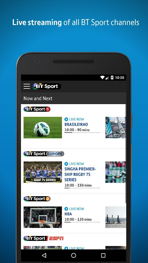 BT Sport 3.2.1 APK Download - Android Entertainment Apps