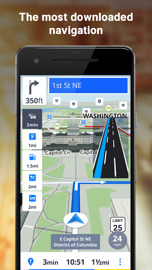 GPS Navigation & Offline Maps Sygic 17.4.28 APK Download - Android ...