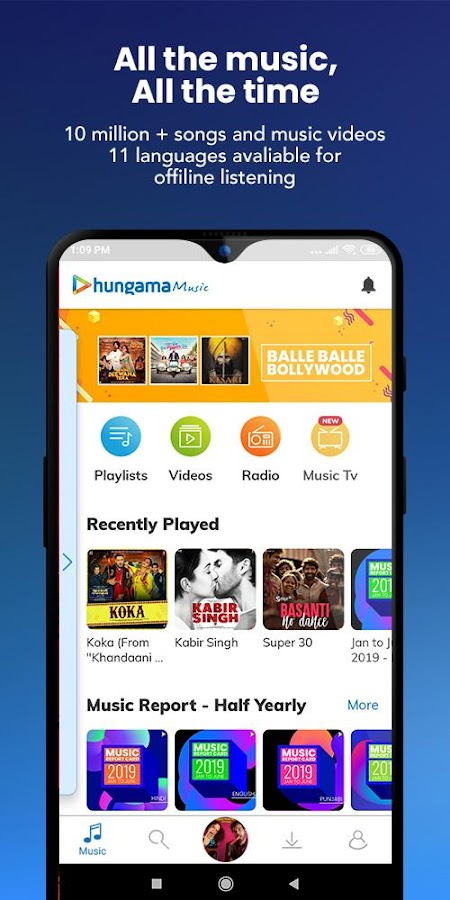 Hungama Music - Stream & Download MP3 Songs 5 2 10 APK