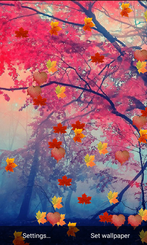 Nature Hd Leaf Live Wallpaper 10 Apk Download Android
