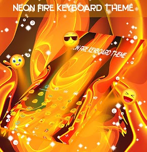 Neon Fire Keyboard Theme 1.279.13.92 screenshot 2