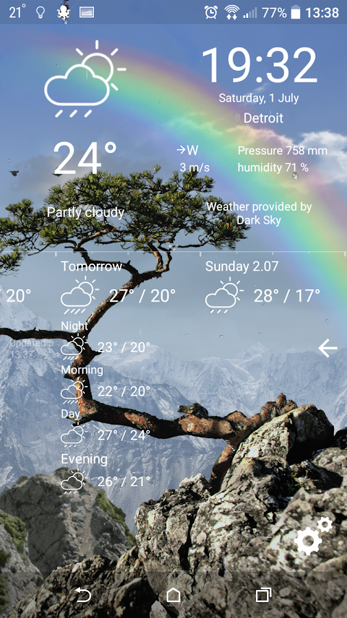 Realistic Weather All Seasons Live Wallpaper 1.17 screenshot 1 ...