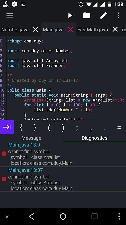 Java N Ide Android Builder Java Se Compiler 145 Apk Download