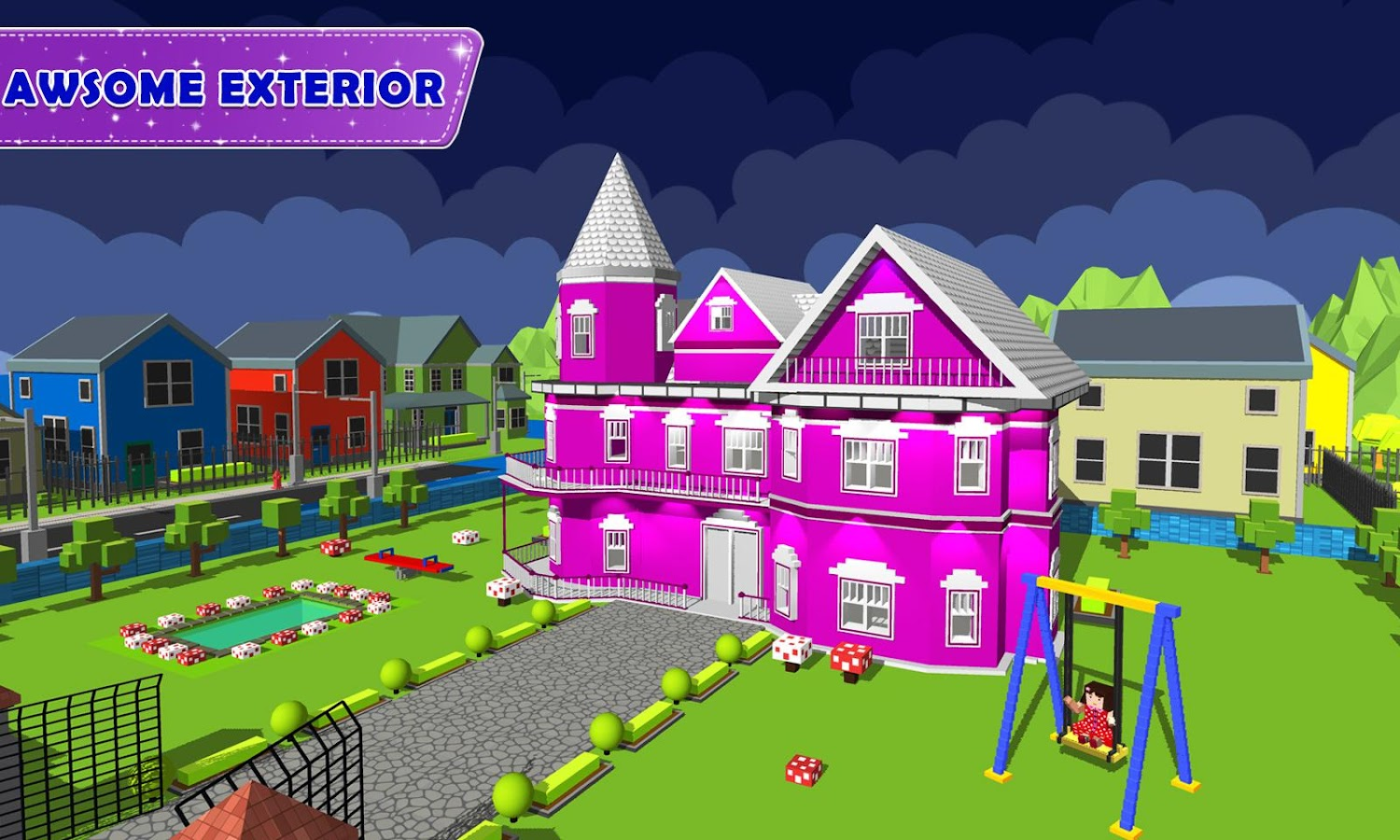 Doll house design decoration girls house game apk